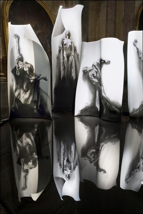 Ernest Pignon Ernest Chapelle St Charles III Avignon 2008 tirage argentique lambda 1 sur 6 120 x 80 cm
